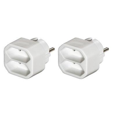 Hama Adapter Voor 2 Stopcontacten