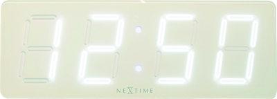 NeXtime NE-3059WI Wandklok 51.5 X 18 X 4.5 Cm, Plastic, Wit, 'wit D'