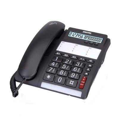 Switel TF535 Comfort-Telefoon met Grote Knoppen Zwart