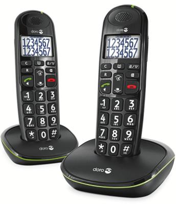 Doro Phoneeasy 110 Duo DECT Telefoon met Grote Toetsen