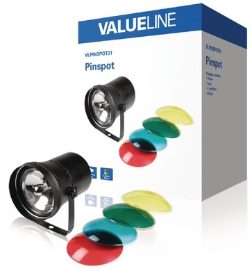 Valueline VLPINSPOT01 4-Kleurige Halogeen Pin-Spot