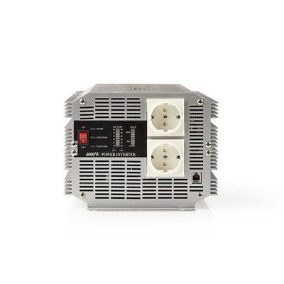 Nedis PIMS400024 Stroomomvormer Gemodificeerde Sinusgolf 24 V Dc - 230 V Ac 4000 W 2x Schuko-uitgang Afstandsbediening