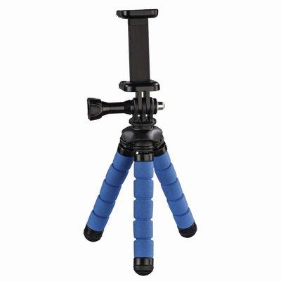 Hama Ministatief Flex Voor Smartphone En GoPro 14 Cm Blauw