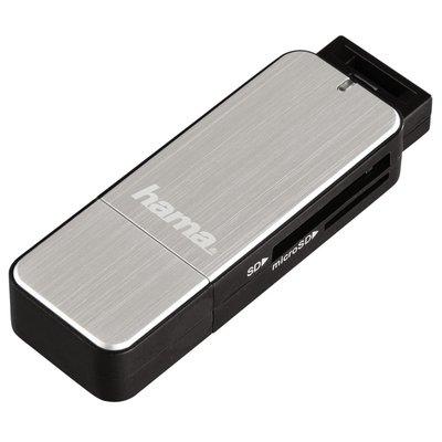 Hama USB 3.0 Card Reader SD/Micro SD Zilver