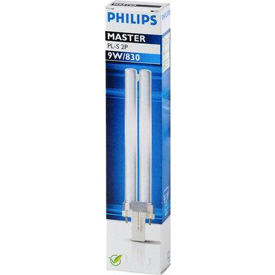 Philips 2010078929 8711500260840 Spaarlamp PL-S Kleur 830 2-p 9w