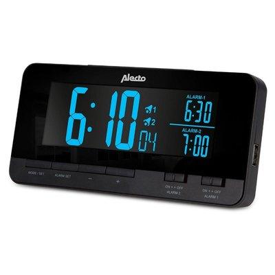 Alecto AK-60 Digitale Wekker Zwart