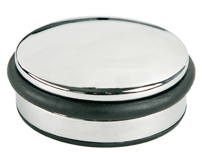 Alco AL-2850 Deurstopper Metaal Laag Chroom, 1300 Gram Hoog 4cm