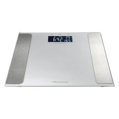 Medisana BS 410 Lichaamsanalyse Weegschaal Zilver/Glas