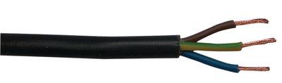 Fixapart CABLE-EL3X100 Stroomkabel H05vv-f 3g1.0 100 M Zwart