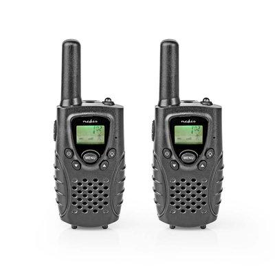 Nedis WLTK0800BK Walkie-talkie Bereik 8 Km 8 Kanalen Vox 2 Stuks Zwart