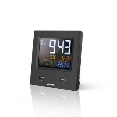 Hama Radiogestuurde Wekker Dual-USB Met Led-kleurendisplay En USB-oplaadfunctie
