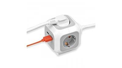 Brennenstuhl BN-1150100 Alea Power Cube - Usb Charger Extention Socket
