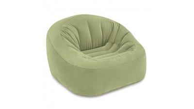 Opblaasbare Lounge Stoel.Intex 68576np Club Opblaasbare Loungestoel 124x119x76 Cm Groen
